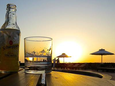 Gin And Tonic At Sunset Original by Max Barlow