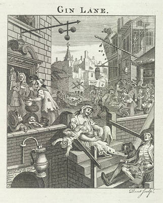 Hogarth Photograph - Gin Lane by British Library