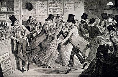 Gin-shop To Dancing-room Art Print