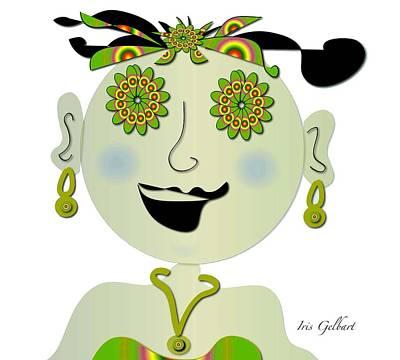 Digital Art - Gina  by Iris Gelbart