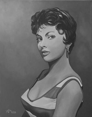 Painting - Gina Lollobrigida by Antonio Marchese