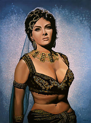Gina Lollobrigida Painting Art Print by Paul Meijering