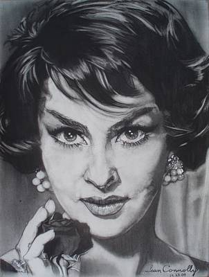 Drawing - Gina Lollobrigida by Sean Connolly