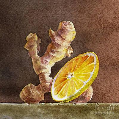 Ginger And Lemon Art Print