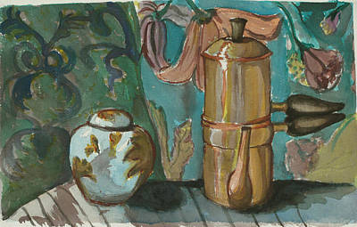 Painting - Ginger And Tea by Carol Oufnac Mahan