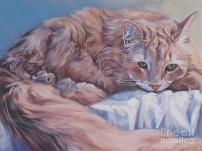 Painting - Ginger Cat by Lee Ann Shepard