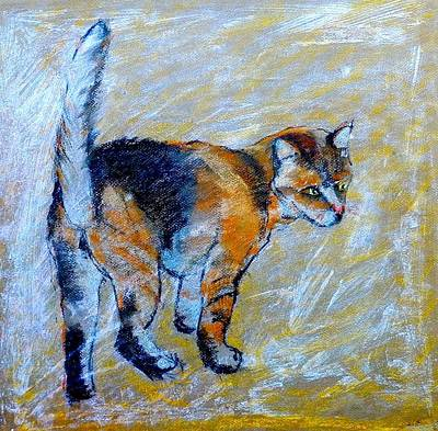 Orange Tabby Drawing - Ginger Cat by Susan Robinson