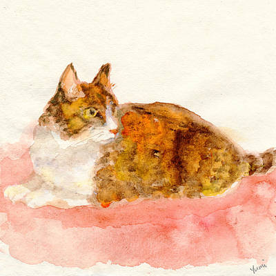 Painting - Ginger Cat  by Yumi Kudo