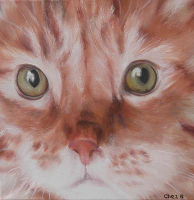 Moggy Painting - Ginger by Cherise Foster