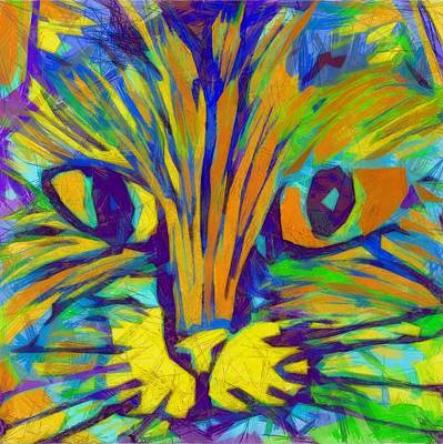 Cats And Dogs Digital Art - Ginger Kitty by Michelle Calkins