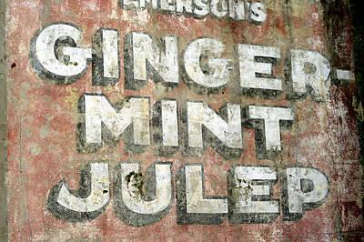 Photograph - Ginger Mint Julep Sign by Bradford Martin