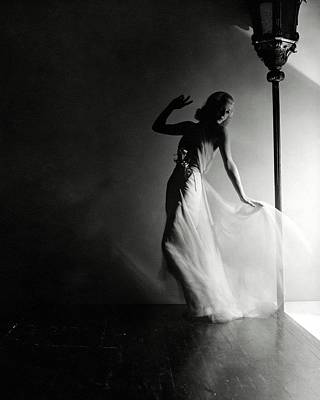 Ginger Rogers Wearing An Evening Gown Art Print by Horst P. Horst