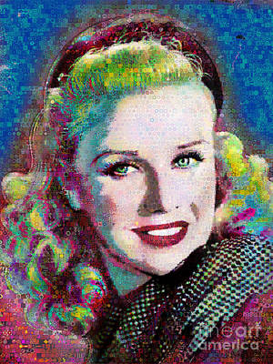 Ginger Rogers_abstract_collage Original