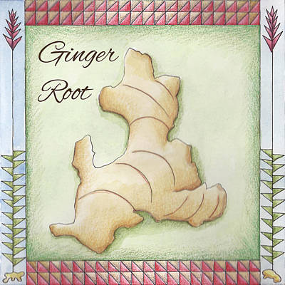 Ginger Root Art Print by Christy Beckwith