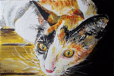 Painting - Ginger Stray Cat by Richard Jules