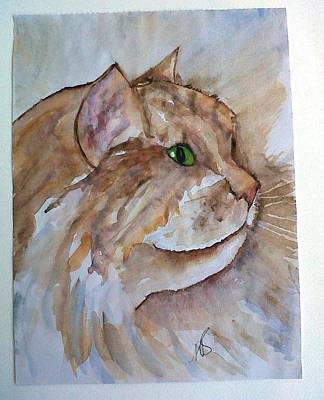 Painting - Ginger Tom I by Paula Steffensen