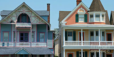 Photograph - Gingerbread Beach Homes Pano - Ocean Grove Nj by Anna Lisa Yoder