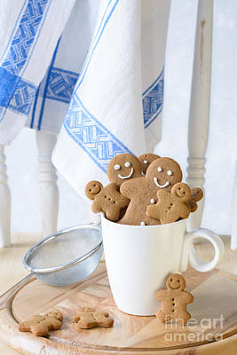 Sweet Bread Photograph - Gingerbread Biscuits by Amanda Elwell
