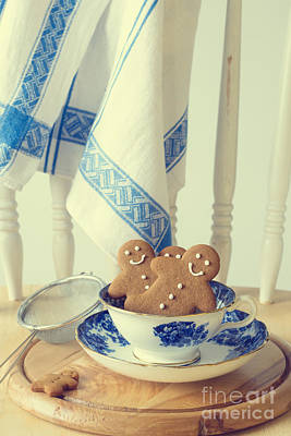 Vintage Teacup Photograph - Gingerbread by Amanda Elwell