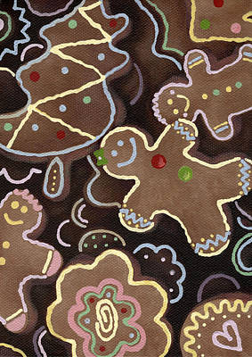 Painting - Gingerbread Cookies by Natasha Denger