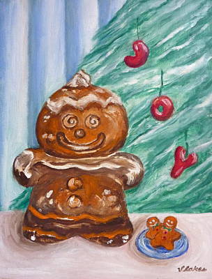 Gingerbread Cookies Art Print