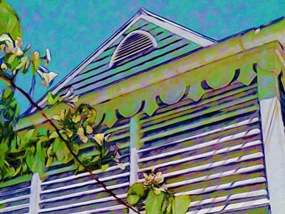 Painting - Gingerbread Eave Trim - Horizontal  by Lyn Voytershark