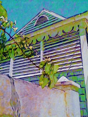 Painting - Gingerbread Eave Trim - Vertical by Lyn Voytershark