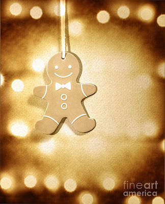 Photograph - Gingerbread Man Christmas Decoration by Anna Om