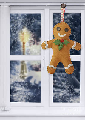 Gingerbread Man Decoration Art Print by Amanda Elwell