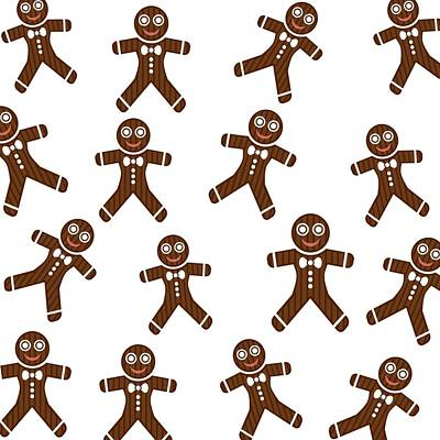 Digital Art - Gingerbread Toss by Florene Welebny