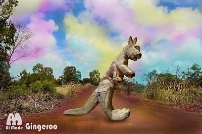 Kangaroo Mixed Media - Gingeroo by Alex Matthews