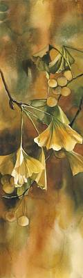 Gingko In Autumn Art Print by Alfred Ng