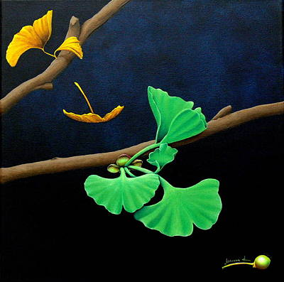 Cycles Painting - Gingko by Mareen Haschke