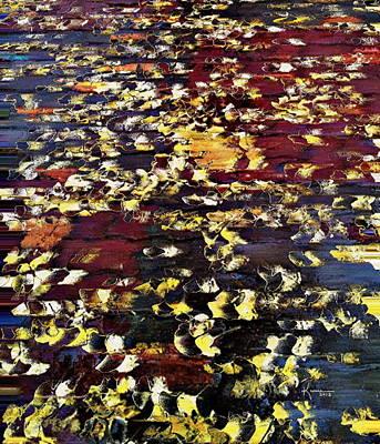 Fallen Leaf Mixed Media - Ginkgo Leaves by Kume Bryant
