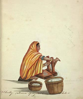Ginning Cotton Art Print by British Library