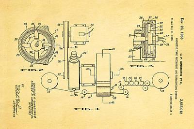 Ginsburg Video Tape Recorder Patent Art 1958 Art Print by Ian Monk