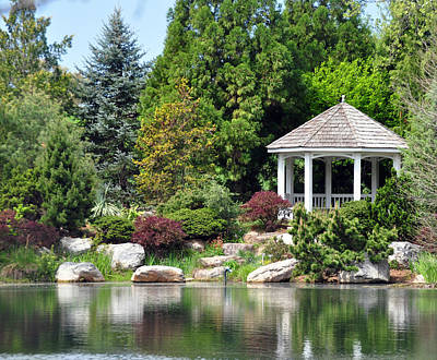 Photograph - Ginter Gazebo by Gail Butler