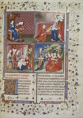 Gioauthor And Dedication Scenes Print by British Library