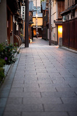 Photograph - Gion Alley by Brad Brizek