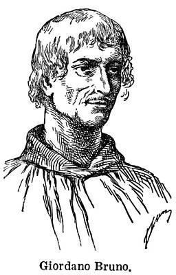 Giordano Bruno Drawing - Giordano Bruno (c1548-1600) by Granger