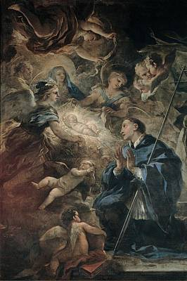 Giordano Luca, Death Of St Joseph, 17th Art Print
