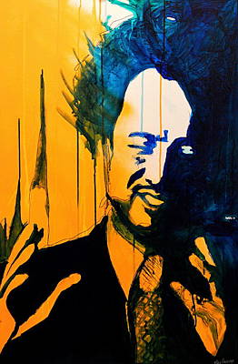 Theorist Painting - Giorgio Tsoukalos by Ryan Harvey