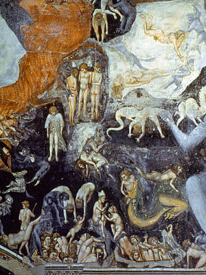 Bondone Painting - Giotto Detail Of Hell by Granger