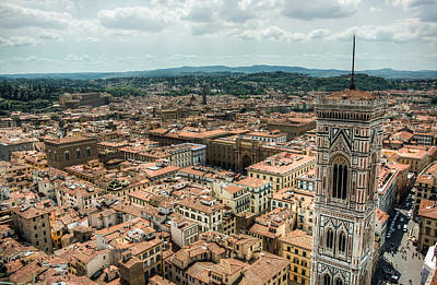 Photograph - Giotto's Campanile And Florence Cityscape by Natasha Bishop