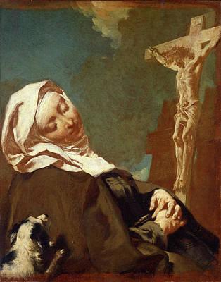 1754 Painting - Giovanni Battista Piazzetta 1683-1754, Saint Margaret by Litz Collection