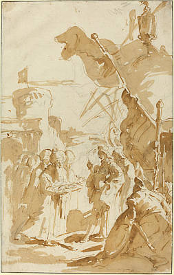 Wash Drawing - Giovanni Battista Tiepolo Italian, 1696 - 1770 by Quint Lox