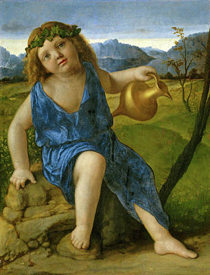 1505 Painting - Giovanni Bellini, The Infant Bacchus, Italian by Litz Collection