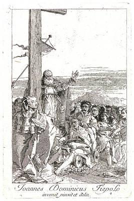 True Cross Drawing - Giovanni Domenico Tiepolo Italian by Litz Collection