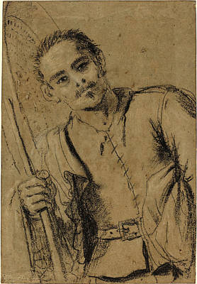 Giovanni Francesco Barbieri Drawing - Giovanni Francesco Barbieri, Called Guercino by Litz Collection