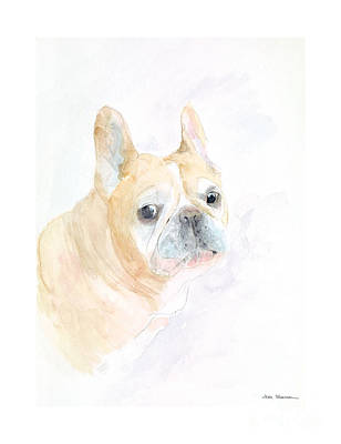 Frenchie Painting - Gipper by Joan Sharron